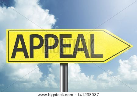 Appeal yellow sign
