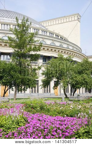 Opera and ballet theater in Novosibirsk, Siberia, Russian Federation