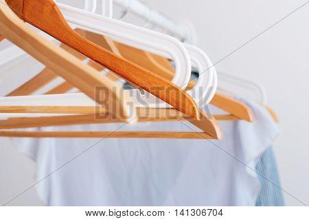 Pastel Female Cloth Open Rail Wooden Hanger