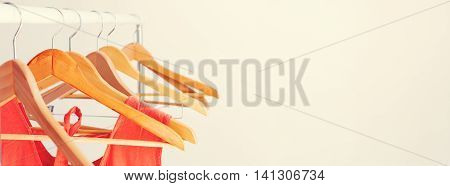 Nothing To Wear Orange Dress Empty Copy Space