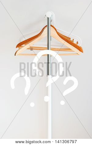 Problem Nothing To Wear Text Design Coat Hanger