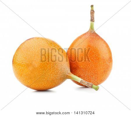 Passionfruits, isolated on white