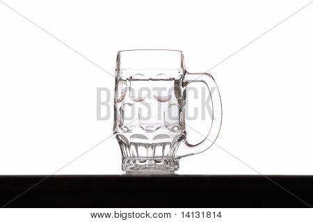 A Glass In White Background