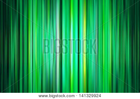 Abstract green stripes background with selective focus and spotlight