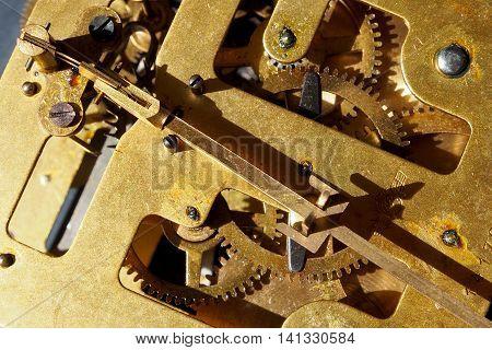 The mechanism of an old watch - clockwork