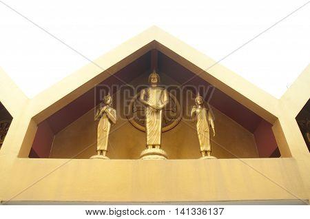 Buddha statues at Wat Tha-it Angthong Province Thailand