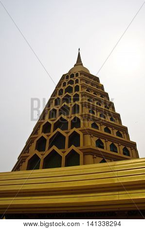 Golden Pagoda at Wat Tha-it Angthong Province Thailand