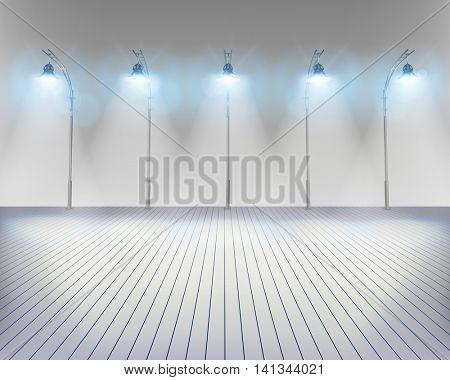 Streetlights. Vector illustration