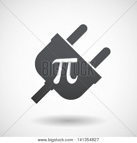 Isolated Male Plug With The Number Pi Symbol