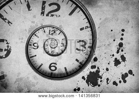 Vintage Rusty Clock Swirl