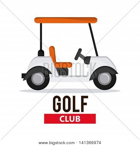 Gold sport concept represented by cart icon. Colorfull and flat illustration.