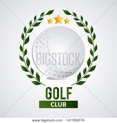Gold sport concept represented by white ball with wreath icon. Colorfull and flat illustration.