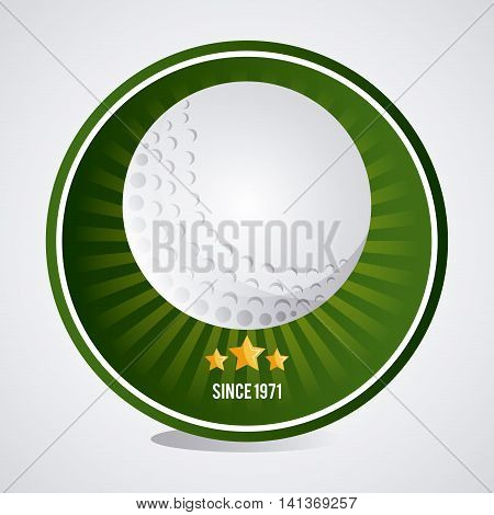 Gold sport concept represented by white ball with star icon. Colorfull and flat illustration.