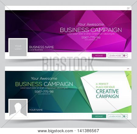 Web Banner Header Layout Template. Creative cover.