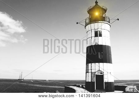 Lighthouse Schleimuende North, on the Baltic Sea, Schleswig-Holstein, Germany, East Sea