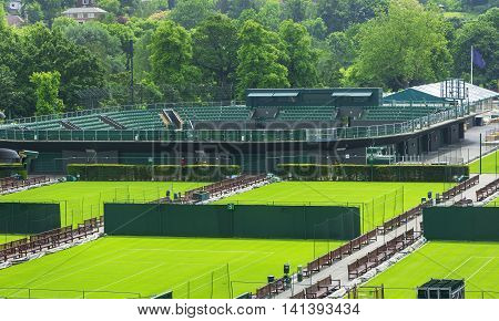 LONDON,THE UK-MAY 2016: at the side Wimbledon courts