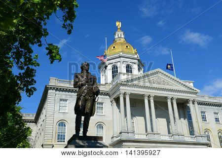 New Hampshire State House, Concord, New Hampshire, USA. New Hampshire State House is the nation's oldest state house, built in 1816 - 1819. poster