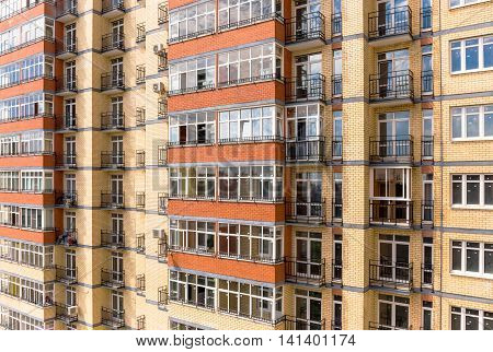 New modern multistorey apartment building in Moscow