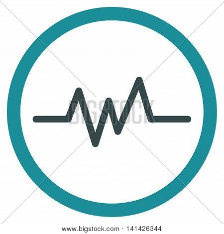 Pulse Monitoring vector icon. Style is bicolor flat symbol, soft blue colors, rounded angles, white background.