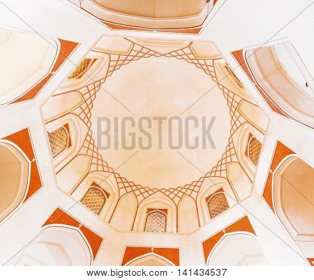 Ceiling With Windows And Ornaments Inside Humayuns Tomb