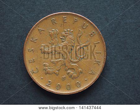 10 Czech Koruna (czk) Coin, Currency Of Czech Republic (cz)