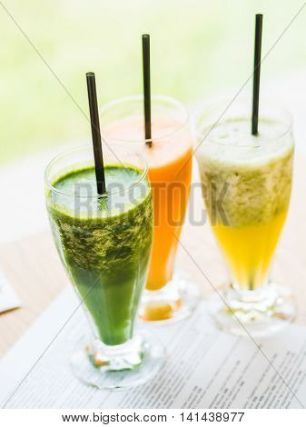 Smoothie From Spinach, Carrots And Pears