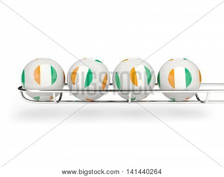Flag Of Cote D Ivoire On Lottery Balls