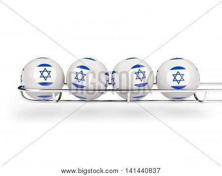 Flag Of Israel On Lottery Balls