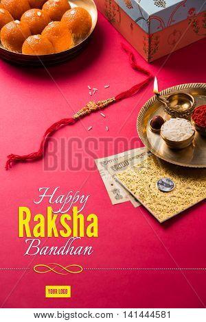 artwork for Rakhi or Raksha Bandhan Greeting card