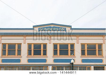 The Old Gunderson Building in Astoria Oregon