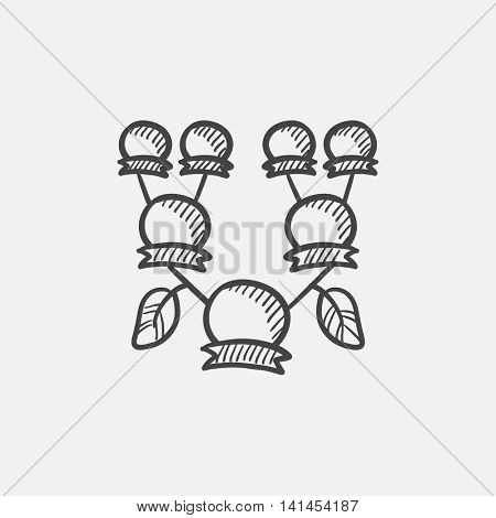 Family tree sketch icon for web, mobile and infographics. Hand drawn vector isolated icon.