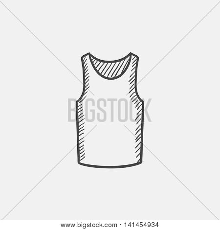 Male singlet sketch icon for web, mobile and infographics. Hand drawn vector isolated icon.