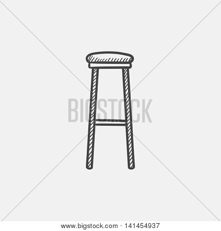 Barstool sketch icon for web, mobile and infographics. Hand drawn vector isolated icon.