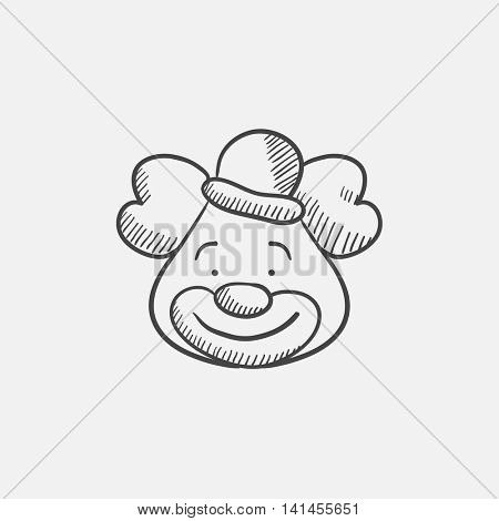 Clown sketch icon for web, mobile and infographics. Hand drawn vector isolated icon.