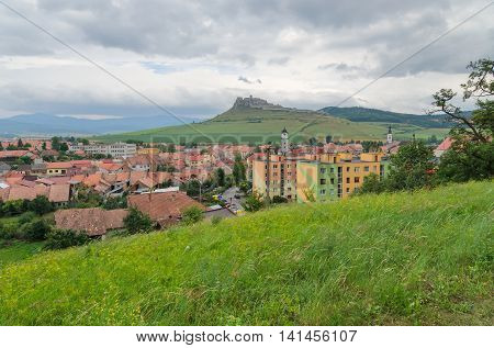 Spisske Podhradie Town and ruins Spissky Hrad Castle in Slovakia.