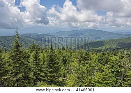 Smoky Mountain View From Clingman's Dome In Tennessee