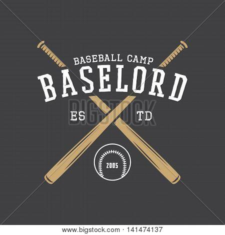 Vintage baseball logo emblem badge and design elements. Graphic Art. Vector Illustration.
