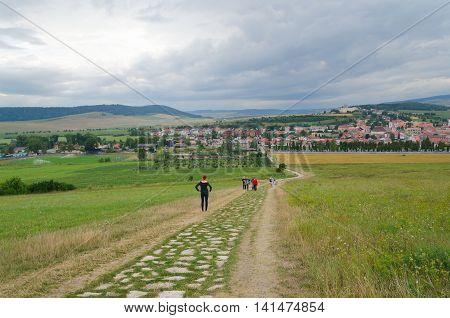 SPISSKE PODHRADIE SLOVAKIA - AUGUST 18 2015: View on a Spisske Podhradie Town in Slovakia.