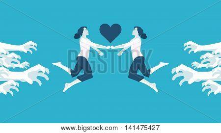 forbidden love lesbian in vector format eps10