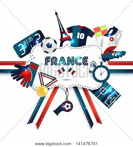 Europe football Championship. Sport vector illustration on white.