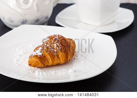 the choux pastry on a white plate