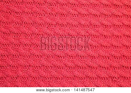 red knitted large viscous fabric - texture