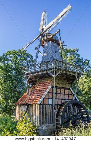 Historical Windmill Huvener Muhle In Huven