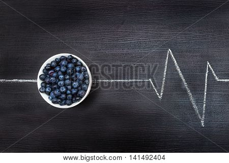Symbolic cardiogram showing that the cranberries can boost your energy