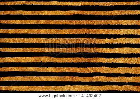 Golden Grunge Stripe Pattern.