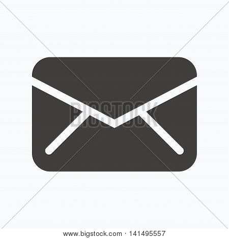 Envelope icon. Send email message sign. Internet mailing symbol. Gray flat web icon on white background. Vector