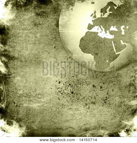 aged Europe map-grunge artwork poster