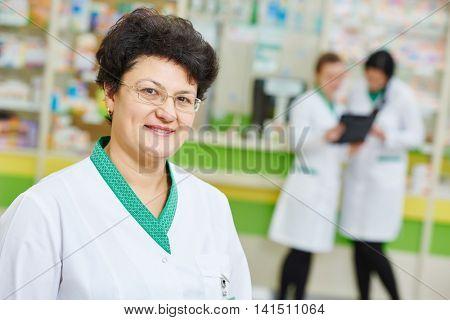 pharmacy worker in drug store