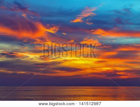 Sea Majestic Summer Sunset