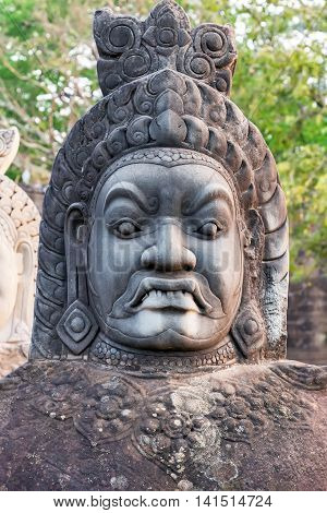 Head Daemon Angkor Wat, Cambodia.